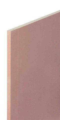 GYPROC FIRELINE Lastra in cartongesso di tipo F con incrementata coesione del nucleo ad alta temperatura, il cui gesso è additivato con fibre di vetro e vermiculite al fine di aumentarne la capacità di resistenza al fuoco.