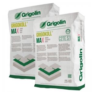GRIGOKOLL MAX - Adesivo a legante misto, bianco e grigio, ad alte prestazioni lavorabilità ed alta resa