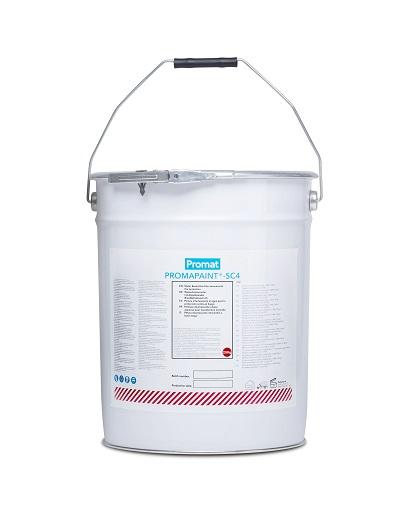 PROMAPAINT® SC4 è una pittura intumescente monocomponente in emulsione acquosa di colore bianco,a base di copolimeri acrilici per la protezione al fuoco di elementi di acciaio.