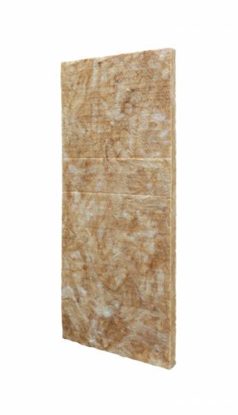 Il pannello in lana minerale Isover di nuova generazione senza rivestimenti, con un legante a base di componenti organici e vegetali.