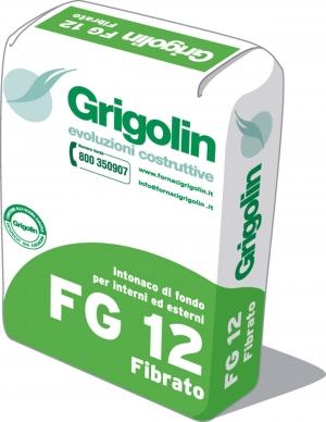 FG 12 FIBRATO - Intonaco di fondo fibrato per interni ed esterni. GP-CSII-W0 secondo norma UNI EN 998-1