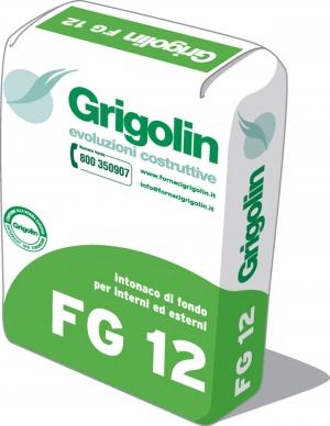 FG 12 - Intonaco di fondo per interni ed esterni. GP-CSII-W0 secondo norma UNI EN 998-1