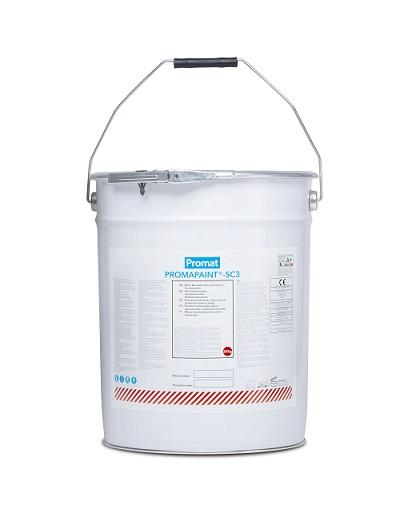 PROMAPAINT®-SC3 è una pittura intumescente monocomponente in emulsione acquosa di colore bianco,a base di copolimeri acrilici per la protezione al fuoco di elementi di acciaio, calcestruzzo e muratura.